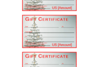 Christmas Gift Certificate Sample | Templates At throughout Merry Christmas Gift Certificate Templates