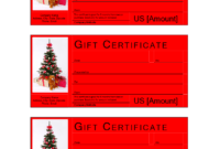 Christmas Gift Certificate Template | Templates At with regard to Free Christmas Gift Certificate Templates