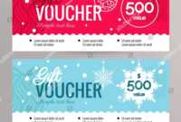 Christmas Gift Voucher Coupon Discount Gift Stock Vector with Merry Christmas Gift Certificate Templates