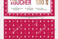 Christmas Gift Voucher Coupon Discount Gift Stock Vector with regard to Merry Christmas Gift Certificate Templates