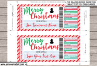 Christmas Spa Gift Voucher with regard to Merry Christmas Gift Certificate Templates