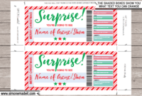 Christmas Surprise Concert Ticket Gift intended for Movie Gift Certificate Template