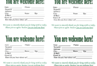 Church Quotes For Welcoming Guests. Quotesgram for Church Visitor Card Template Word