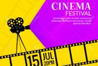 Cinema Festival Poster Template. Film Or Movie Flyer Festival.. pertaining to Film Festival Brochure Template