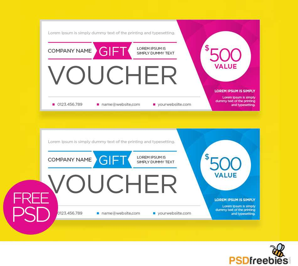 Clean And Modern Gift Voucher Template Psd | Psdfreebies For Gift Certificate Template Photoshop