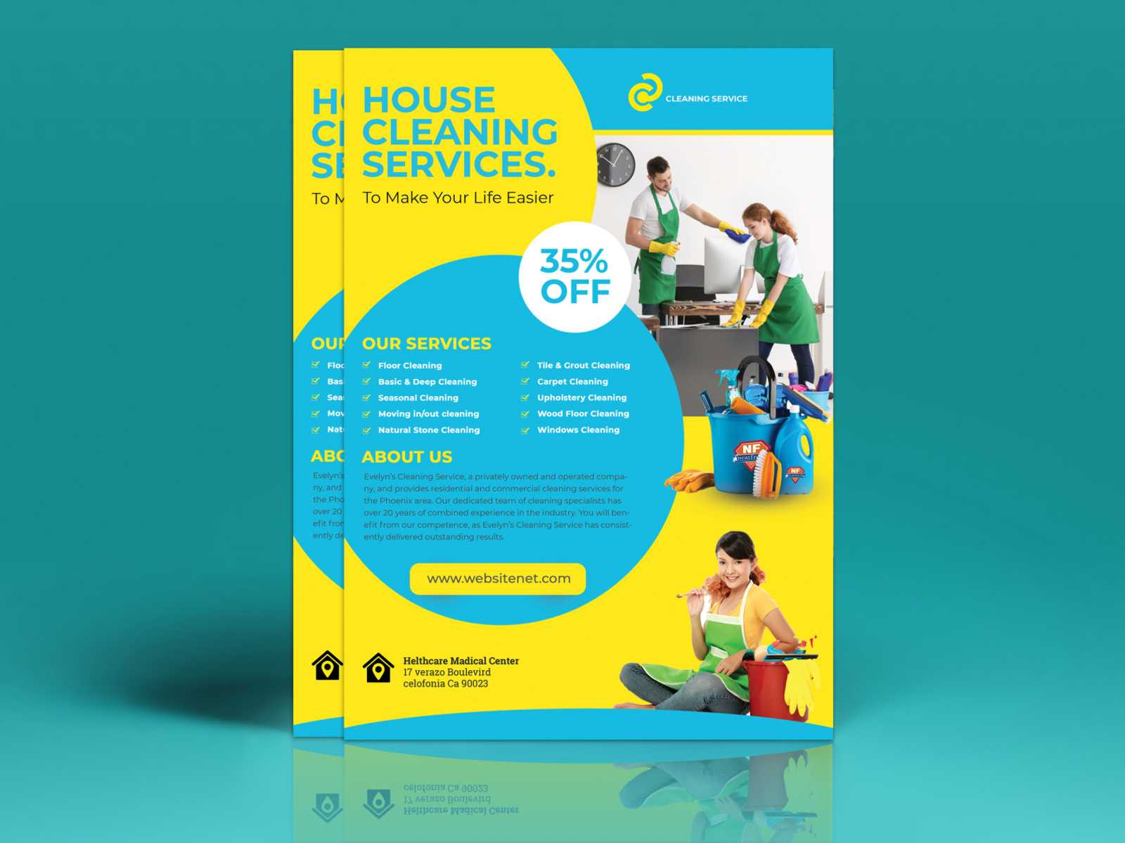Cleaning Flyer Templateeliyas Ali On Dribbble Pertaining To Commercial Cleaning Brochure Templates