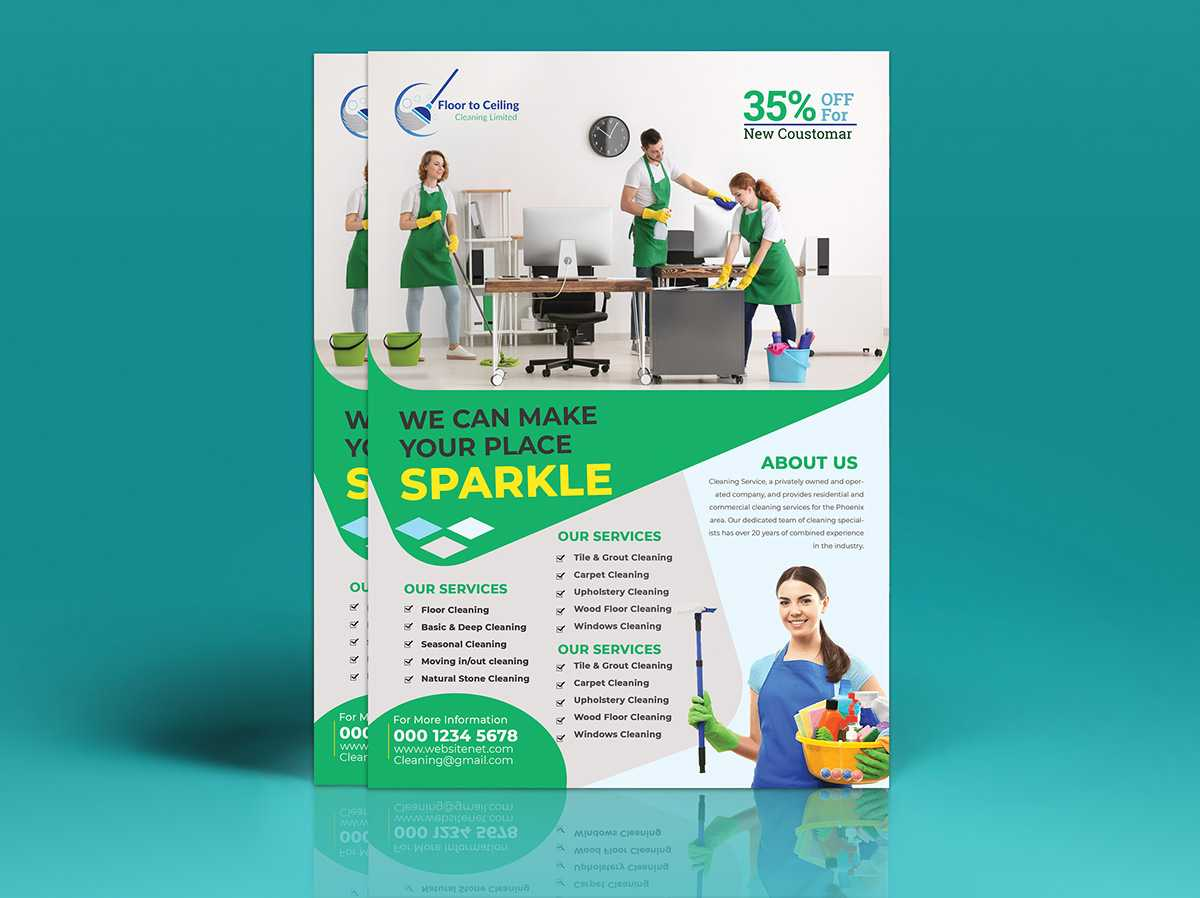 Cleaning Services Flyer Template On Student Show Inside Commercial Cleaning Brochure Templates