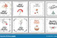 Collection Cute Merry Christmas Gift Cards And Set Of pertaining to Printable Holiday Card Templates