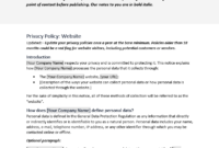 Company Policy Template And Procedures South Africa Word Car with Credit Card Privacy Policy Template