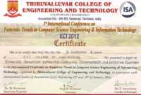 Conference Certificate Of Attendance Template Conference for International Conference Certificate Templates
