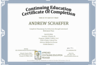 Continuing Education Certificate Template – Zohre inside Continuing Education Certificate Template