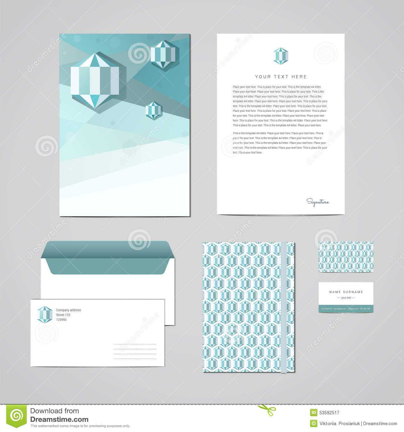 Corporate Identity Design Template. Documentation For For Business Card Letterhead Envelope Template