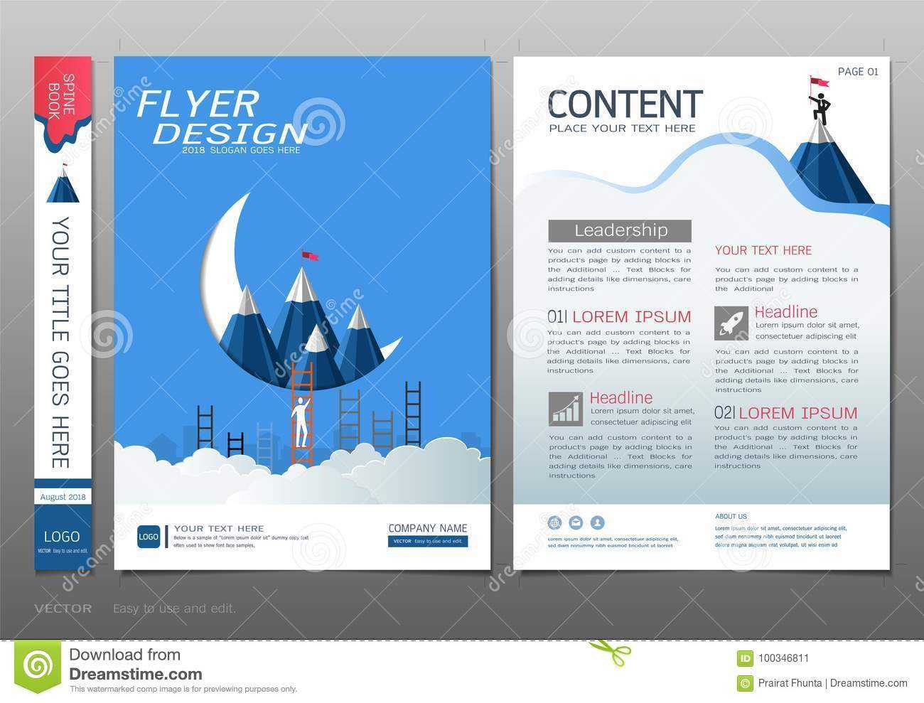 Covers Book Design Template Vector, Business Engineering With Engineering Brochure Templates