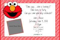 Create My Own Invitations Free – Zohre.horizonconsulting.co with Elmo Birthday Card Template