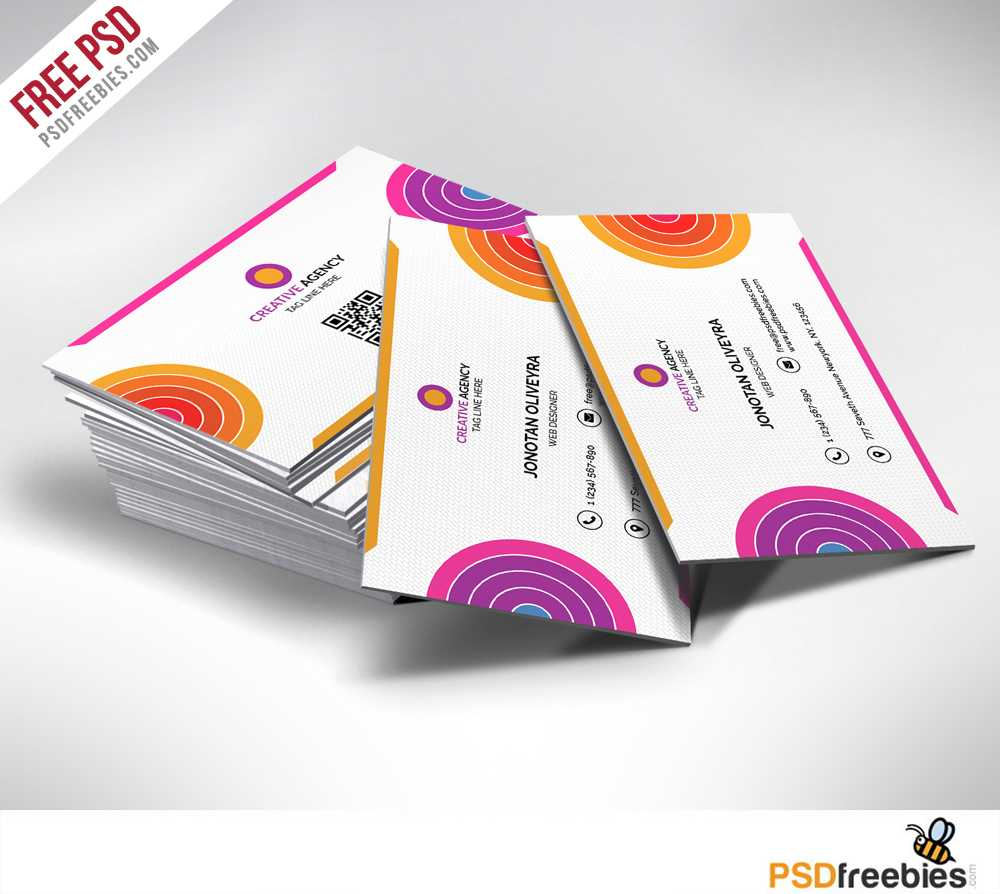 Creative And Colorful Business Card Free Psd | Psdfreebies Throughout Creative Business Card Templates Psd