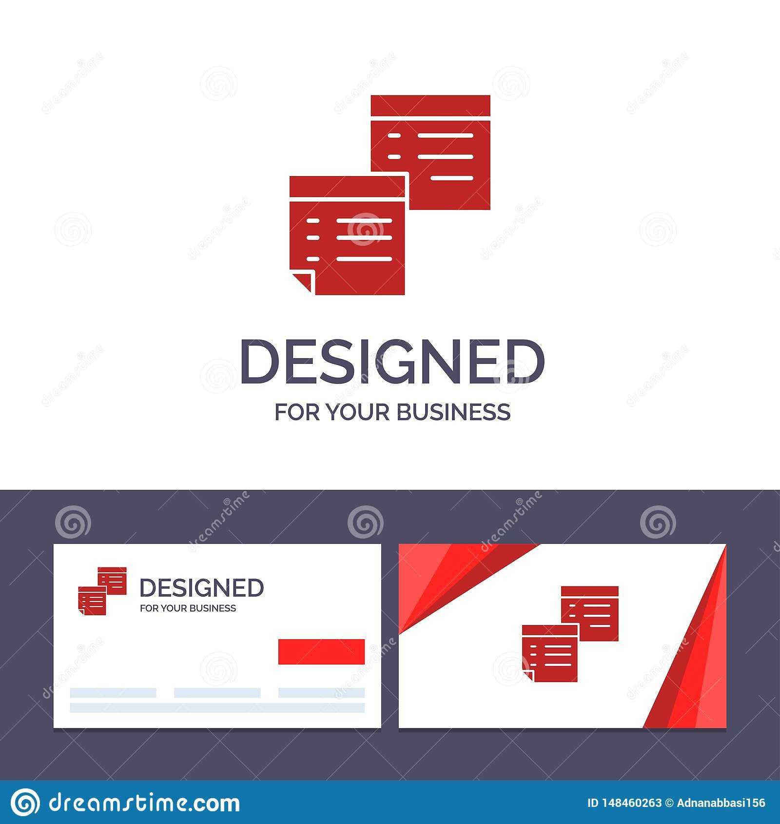 Creative Business Card And Logo Template Sticky, Files, Note With Pages Business Card Template