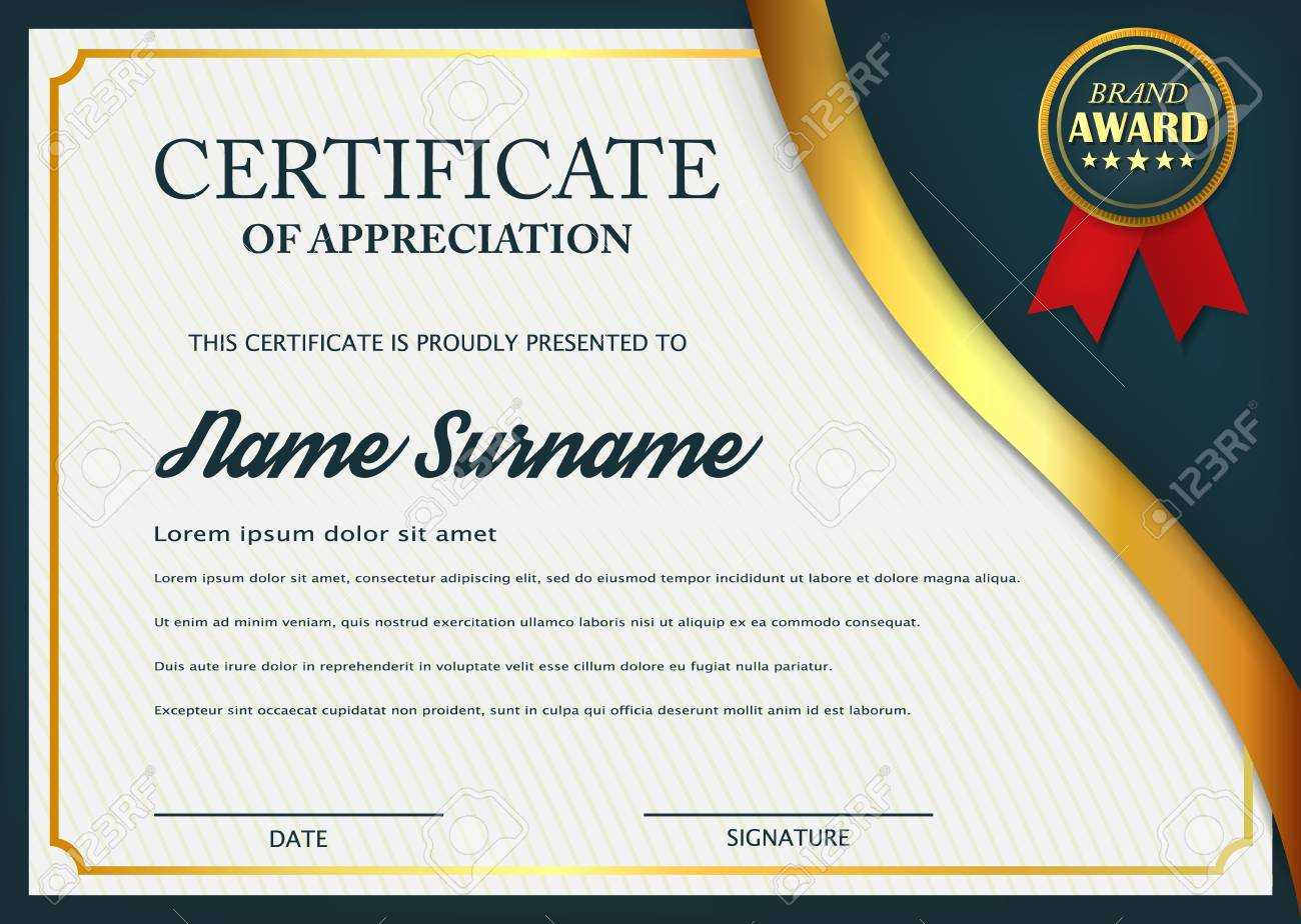 Creative Certificate Of Appreciation Award Template. Certificate.. Inside Award Certificate Design Template
