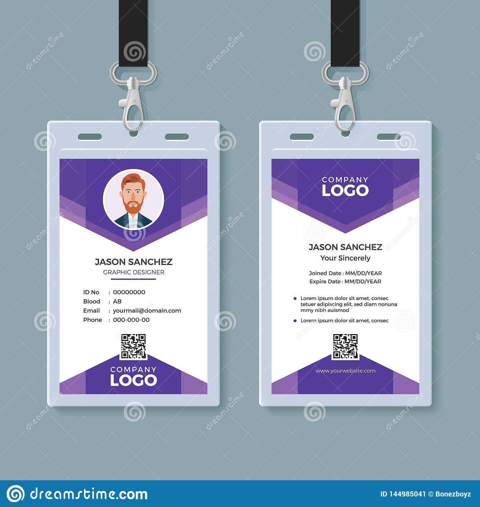 Creative Id Card Template Stock Vector. Illustration Of Pertaining To Conference Id Card Template