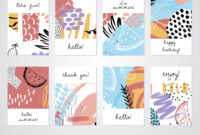Creative Tropical Summer Cards Trendy Style Collage Hand inside Birthday Card Collage Template