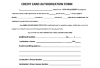 Credit Card Authorization Form – Fill Online, Printable intended for Hotel Credit Card Authorization Form Template