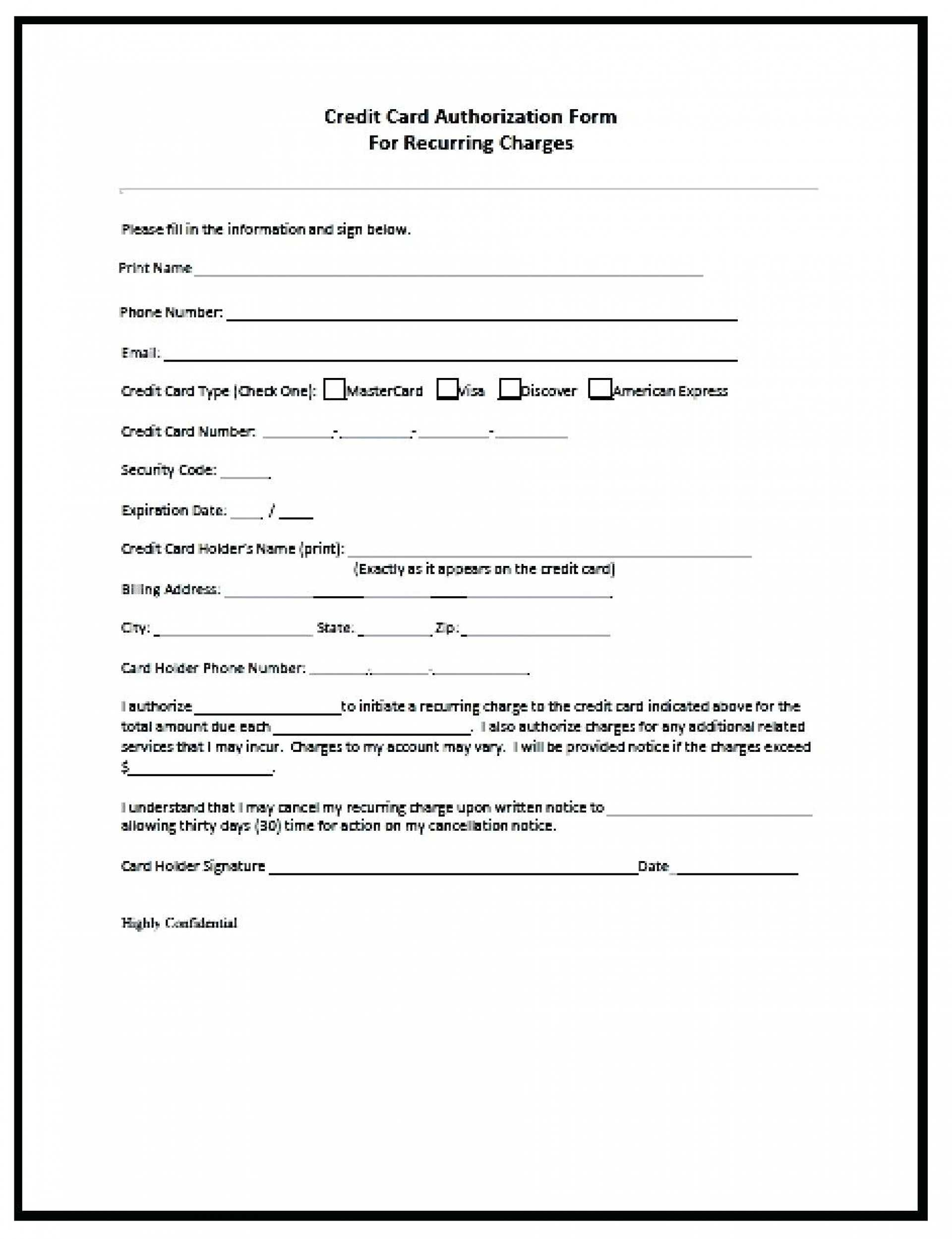 Credit Card Authorization Form Template Free – Mahre Intended For Order Form With Credit Card Template