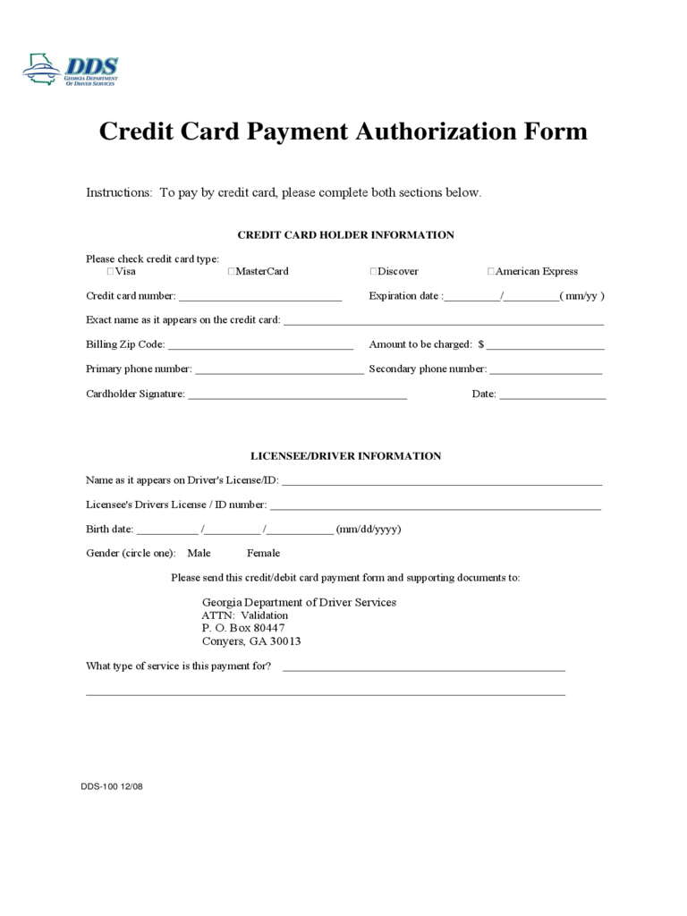 Credit Card Charge Form 7 Recurring Credit Card Throughout Authorization To Charge Credit Card Template