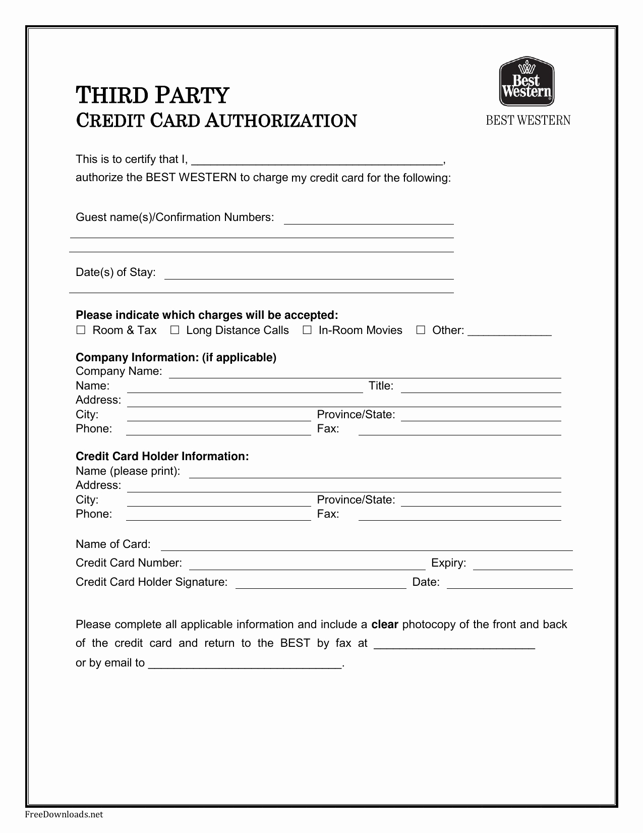 Credit Card Forms Template – Zohre.horizonconsulting.co Inside Hotel Credit Card Authorization Form Template