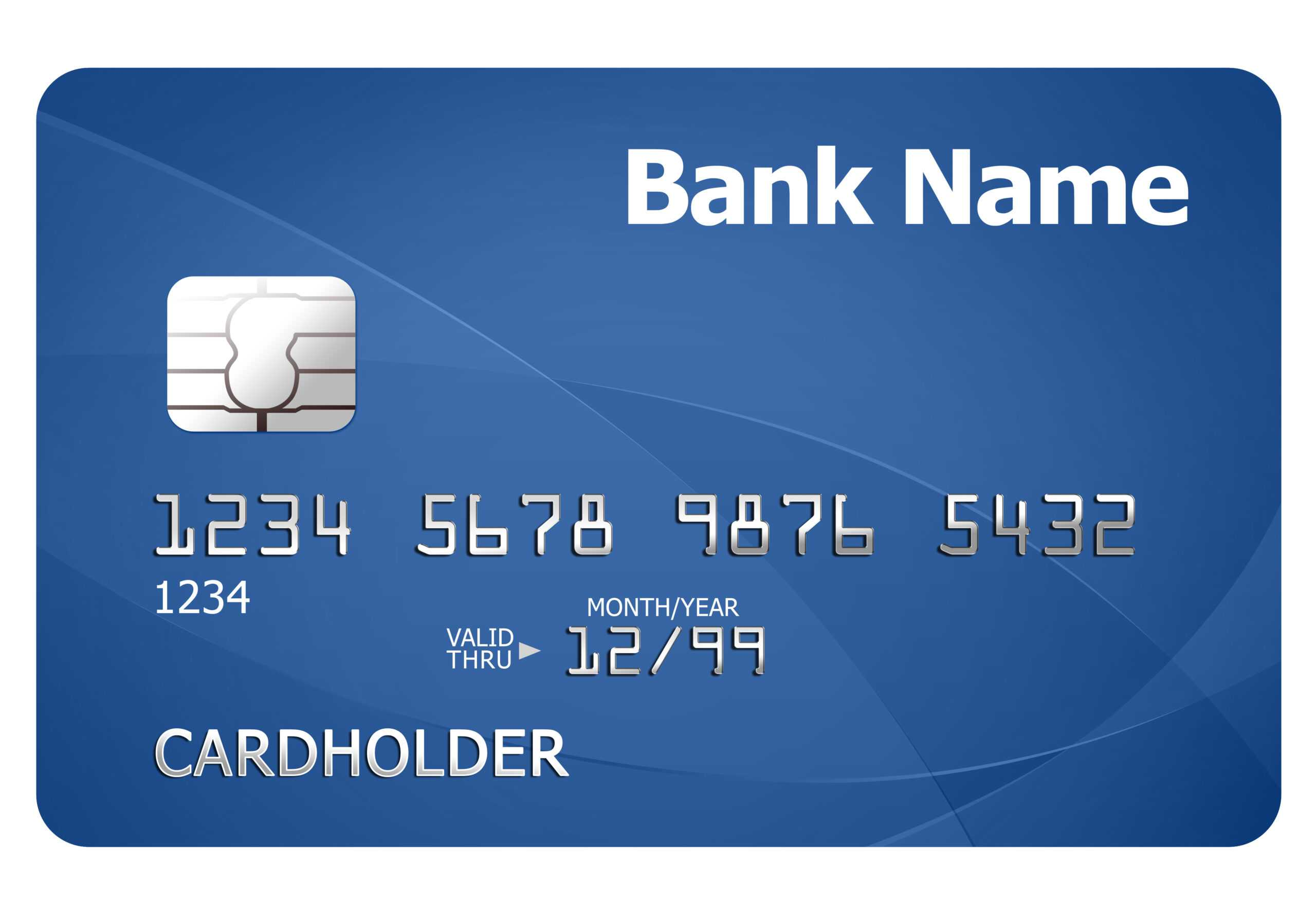 Credit Card Template | Psdgraphics Inside Credit Card Template For Kids