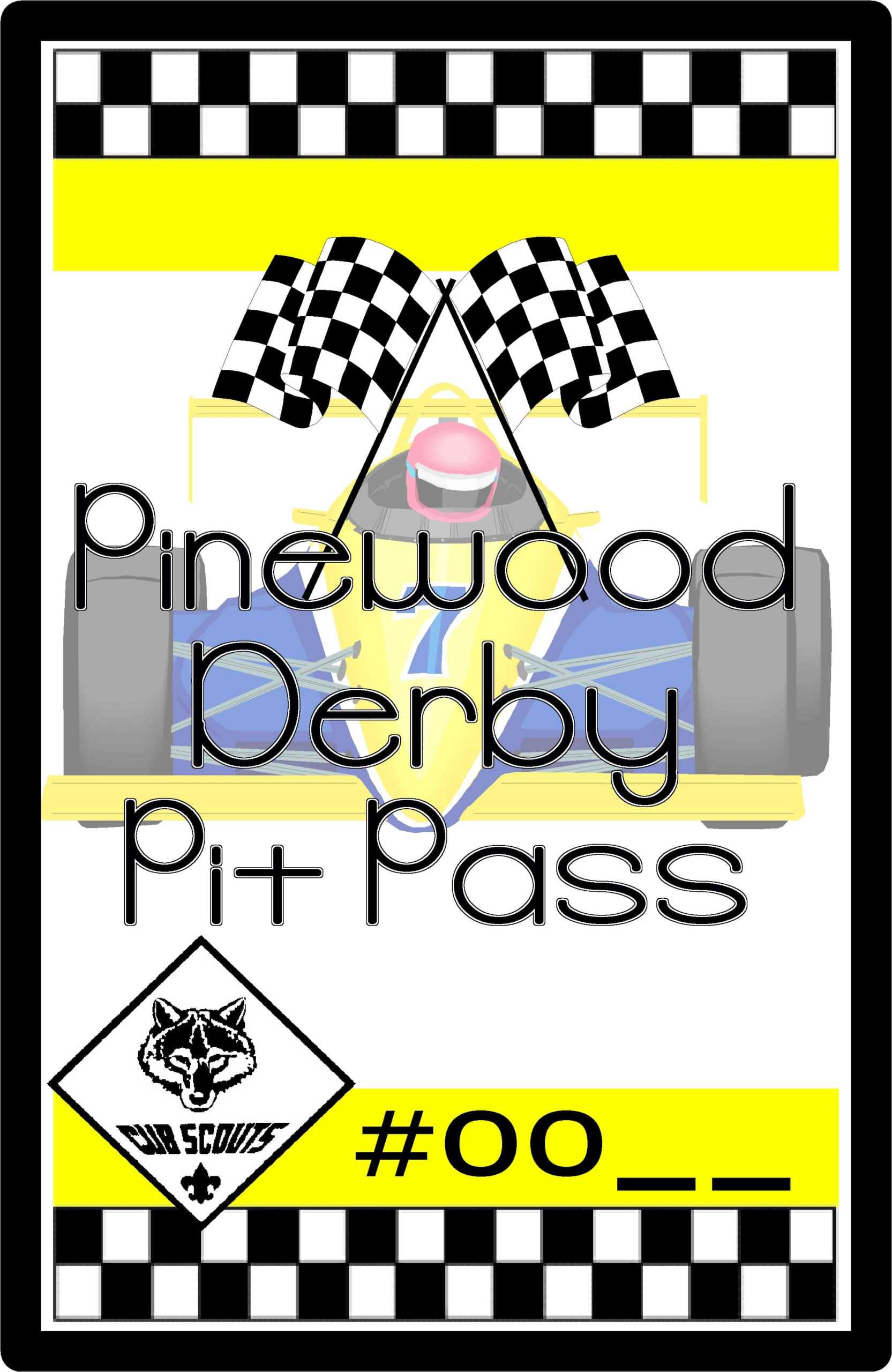 Cub Scout Pinewood Derby Pit Pass Pertaining To Pinewood Derby Certificate Template