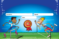 Customised Sports Day Certificate | A5 | Pupil Rewards within Sports Day Certificate Templates Free