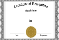 Customized Certificate Templates – Zohre.horizonconsulting.co intended for Printable Certificate Of Recognition Templates Free