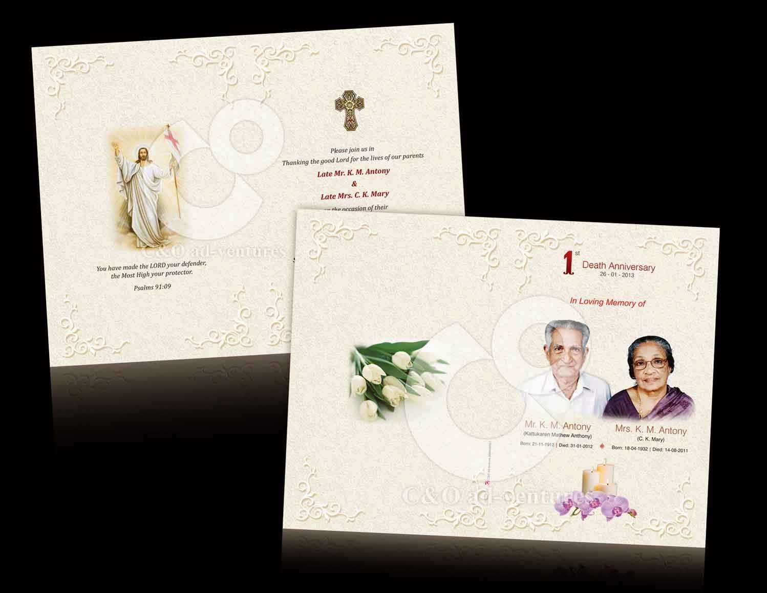 Death Anniversary Cards Templates ] - Card Templates Free Pertaining To Death Anniversary Cards Templates