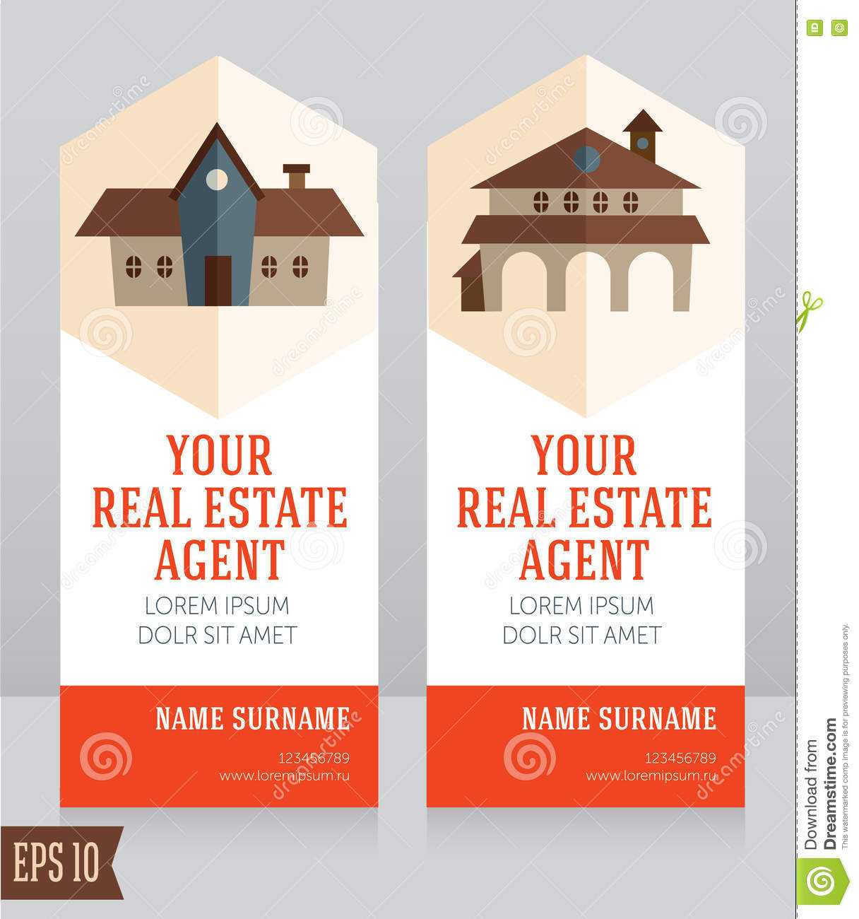 Design Template For Real Estate Agent Business Card Stock Pertaining To Real Estate Agent Business Card Template