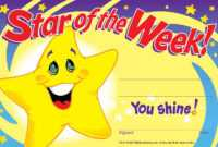 Details About 30 Childrens Star Of The Week 'you Shine' Reward Recognition  Certificate Awards pertaining to Star Of The Week Certificate Template
