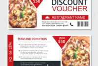 Discount Gift Voucher Fast Food Template Design. Pizza Set. Use.. within Pizza Gift Certificate Template