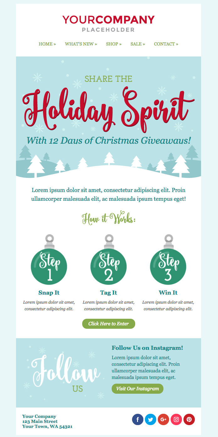 Don't Miss Out On The New Holiday Email Templates | Sendinblue With Holiday Card Email Template