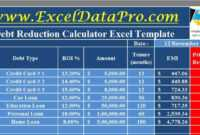 Download Debt Reduction Calculator Excel Template – Exceldatapro intended for Credit Card Interest Calculator Excel Template