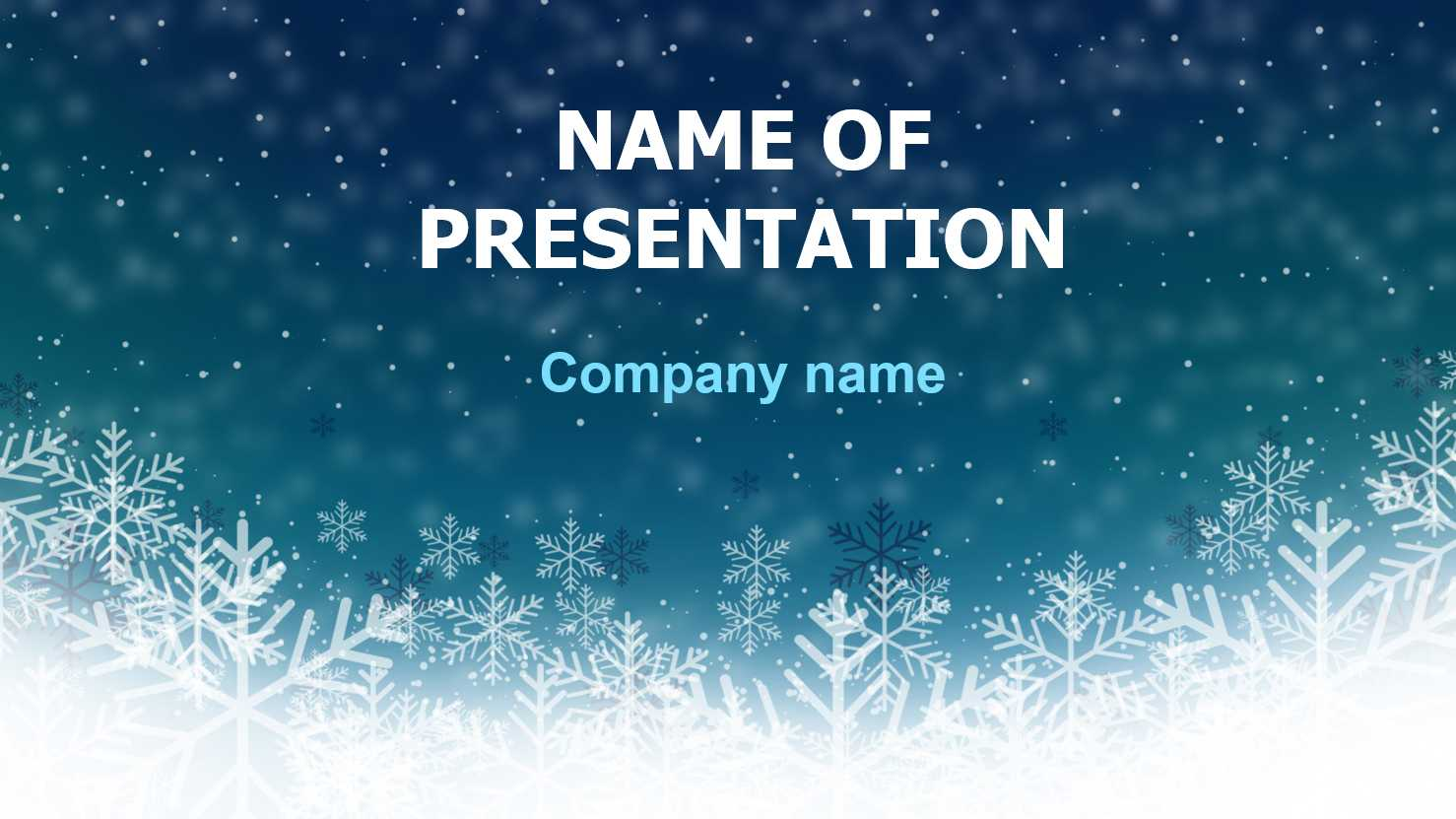 Download Free Deep Snow Powerpoint Template And Theme For Within Snow Powerpoint Template