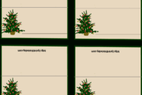 Download Free Printable Christmas Place-Cards Regarding within Free Place Card Templates Download