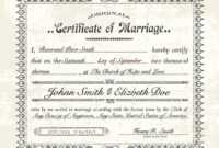 Download Marriage Certificate – Zohre.horizonconsulting.co pertaining to Blank Marriage Certificate Template