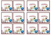 Dr. Seuss Name Tags – Birthday Printable in Dr Seuss Birthday Card Template
