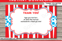 Dr Seuss Party Thank You Cards Template throughout Dr Seuss Birthday Card Template