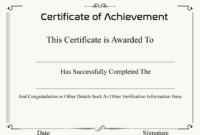 ❤️ Free Sample Certificate Of Achievement Template❤️ inside Army Certificate Of Achievement Template