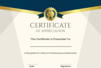 ❤️ Sample Certificate Of Appreciation Form Template❤️ intended for Gratitude Certificate Template