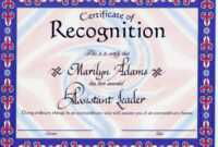 ❤️free Certificate Of Recognition Template Sample❤️ in Safety Recognition Certificate Template