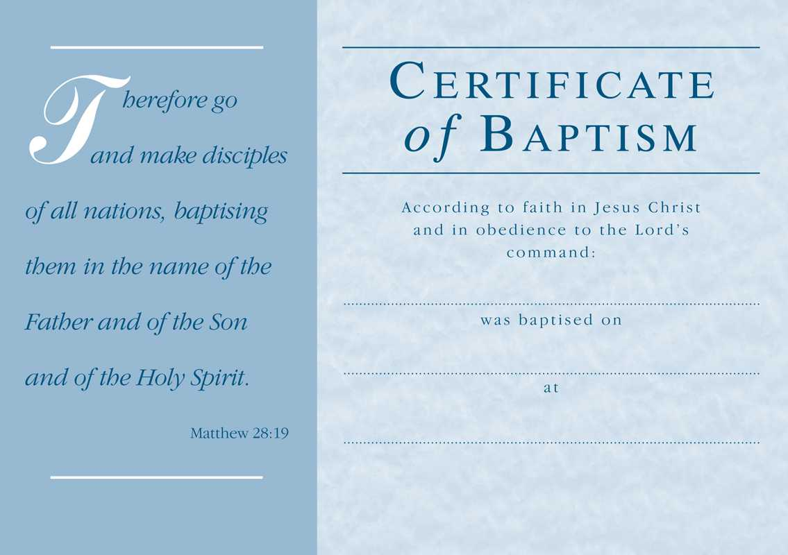 ❤️free Sample Certificate Of Baptism Form Template❤️ Intended For Christian Baptism Certificate Template
