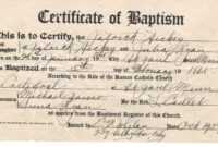 ❤️free Sample Certificate Of Baptism Form Template❤️ with Christian Baptism Certificate Template