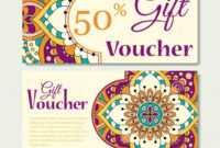 Editable Gift Voucher Template With Mandala Design with regard to Magazine Subscription Gift Certificate Template