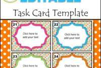 Editable Task Card Templates – Bkb Resources pertaining to Task Card Template