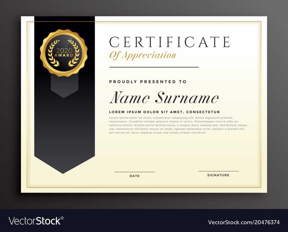 Elegant Diploma Award Certificate Template Design For Professional Award Certificate Template
